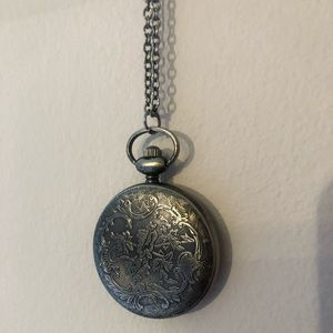 Clock necklace pendant
